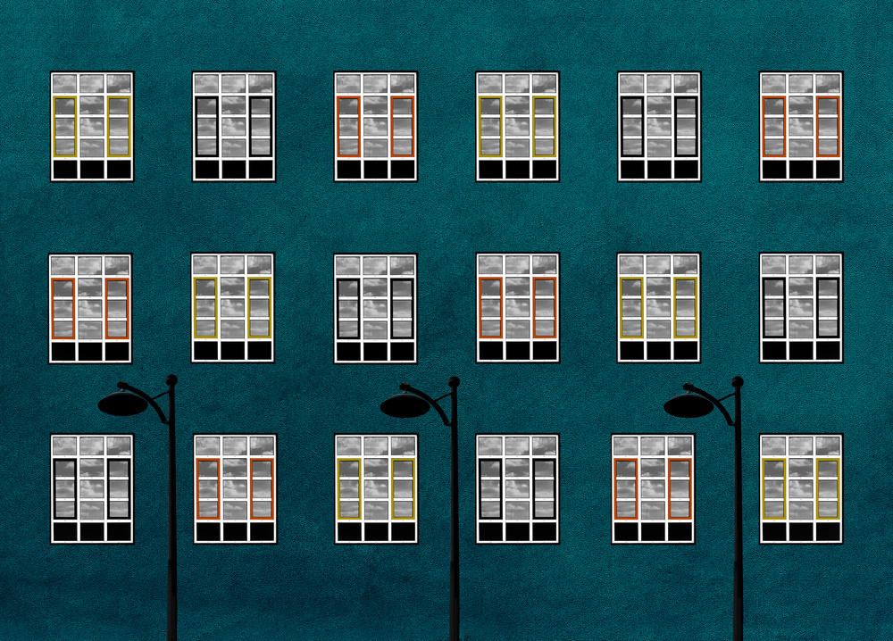 A piece of fine art art photography titled Composition With Windows by Inge Schuster