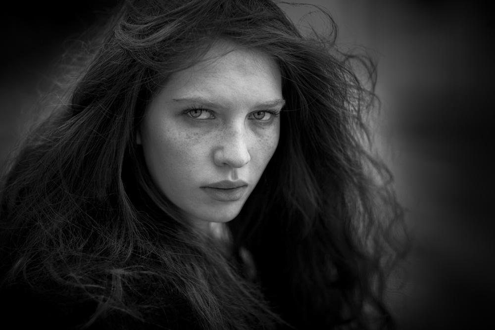 A piece of fine art art photography titled Hair by Jacek Klucznik