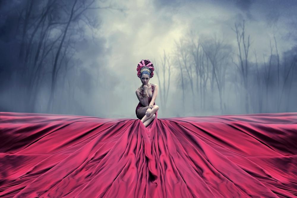 A piece of fine art art photography titled Nyai Dasimah by hukma art
