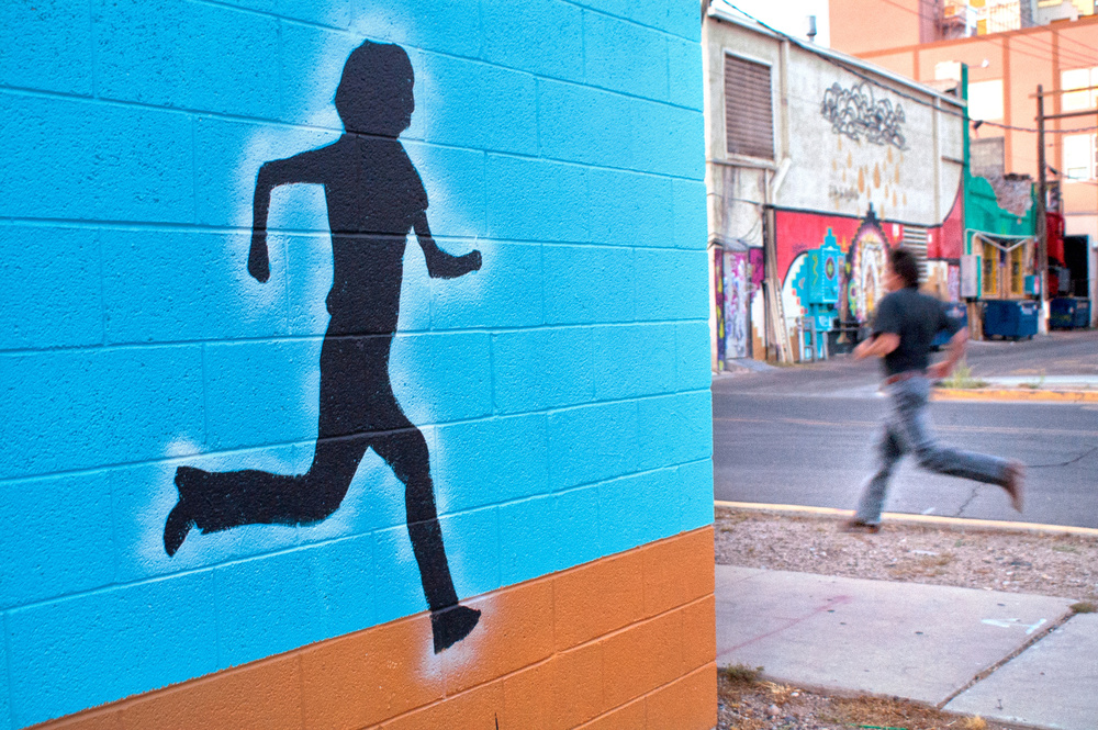 A piece of fine art art photography titled Runner by Andrew Michael