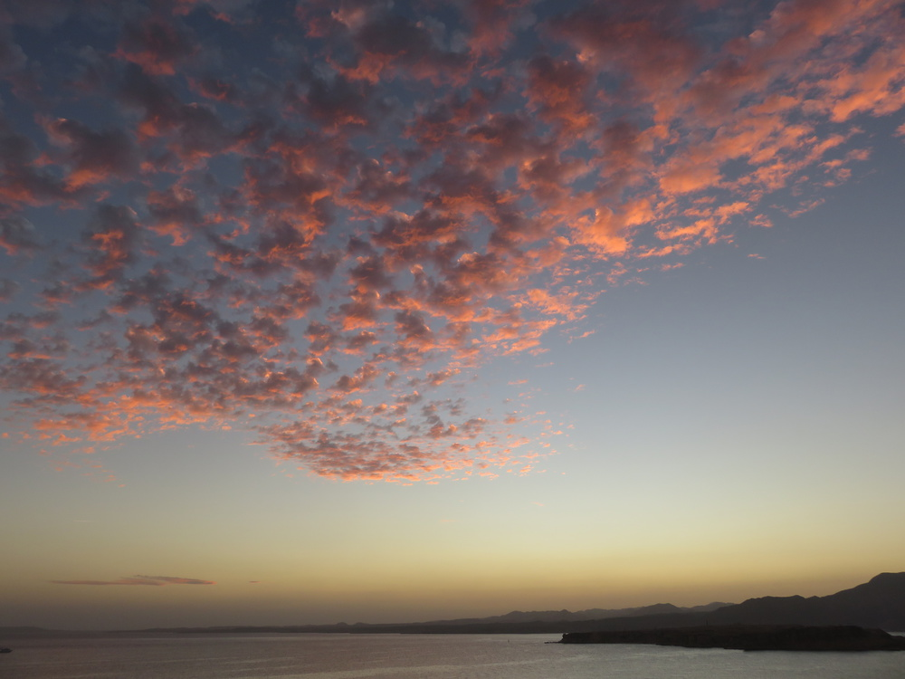A piece of fine art art photography titled Sunset Clouds, Sharm El Sheikh, Red Sea, Egypt by Mindseye Photography Egypt
