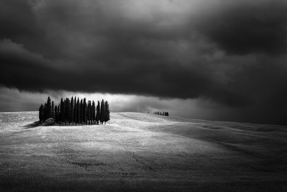 A piece of fine art art photography titled Val D'Orcia by Andre Struik