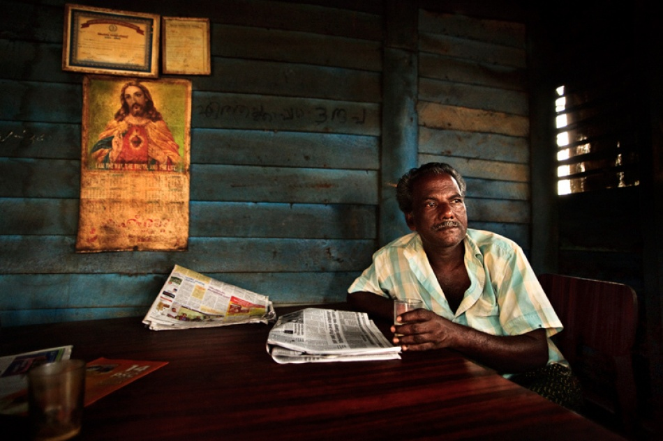 A piece of fine art art photography titled In the Tea Shack by Mitchell Kanashkevich
