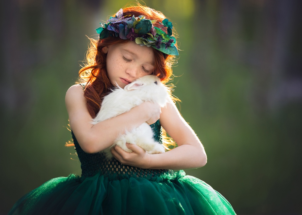 A piece of fine art art photography titled Guardian of the Forest by Lisa Holloway