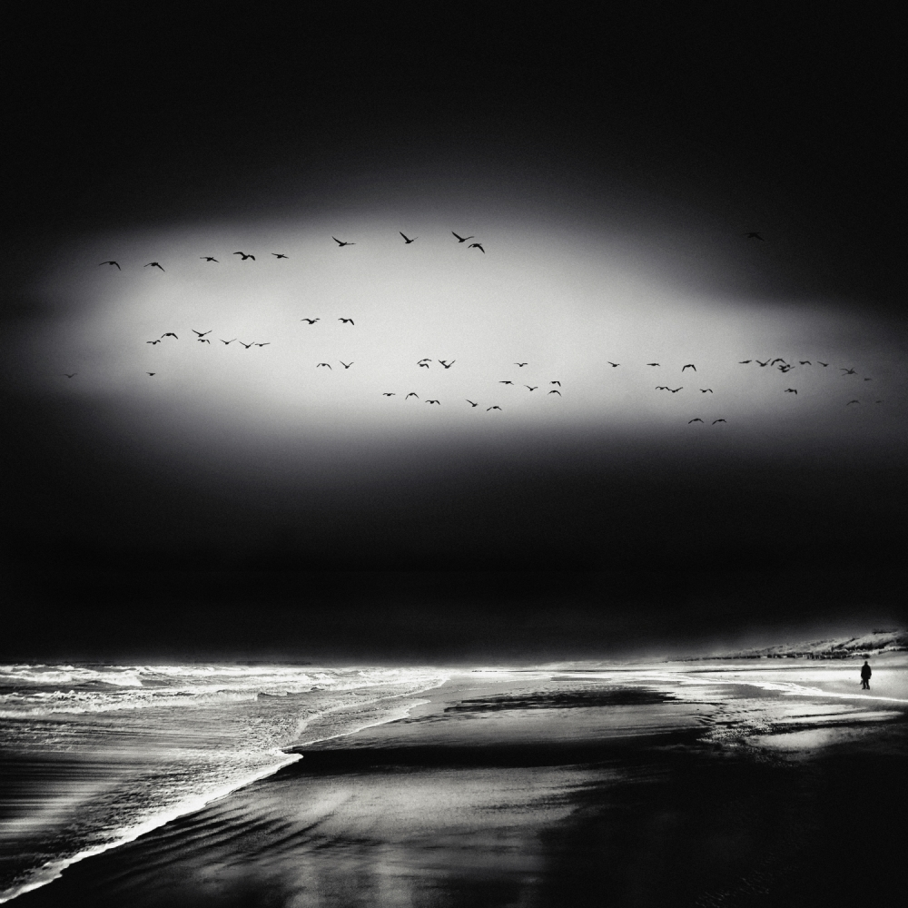 A piece of fine art art photography titled The Song of the Wet Sands by Piet Flour