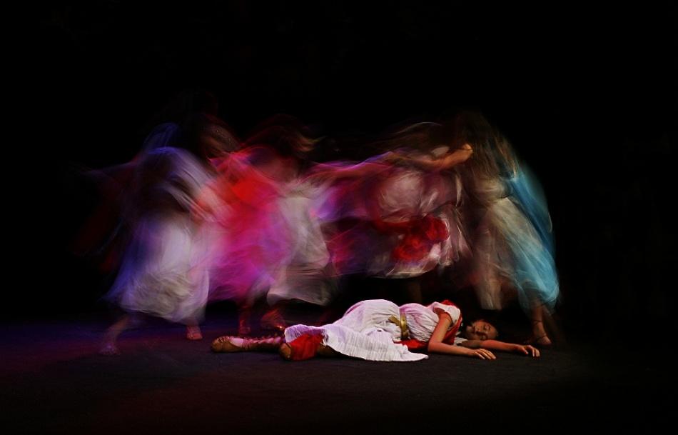 A piece of fine art art photography titled Dance of Maenads by Suren Manvelyan