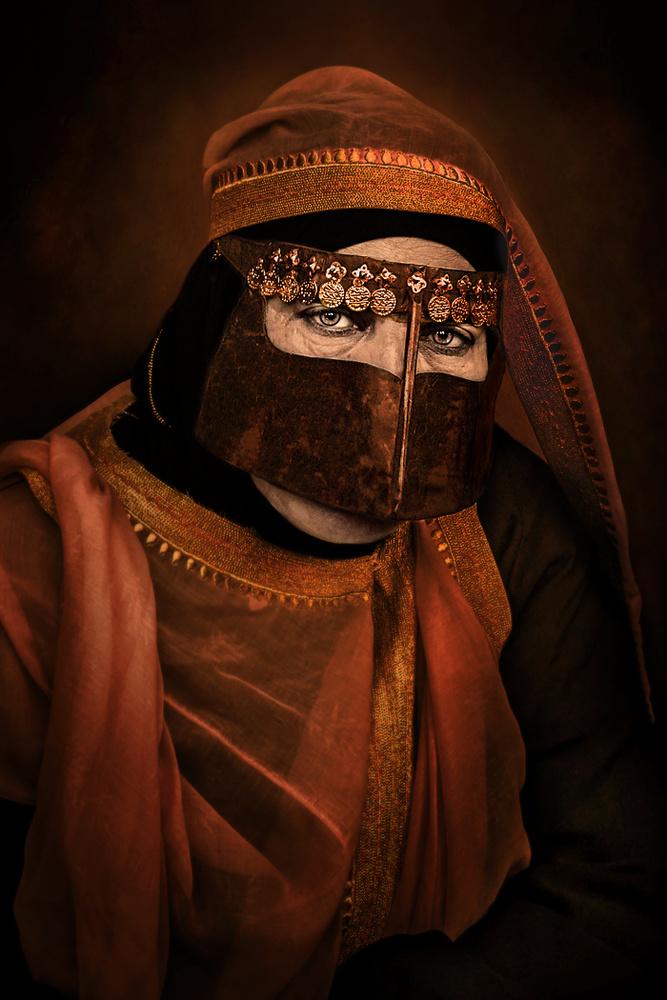 A piece of fine art art photography titled Arabic Women by Fadhel Almutaghawi