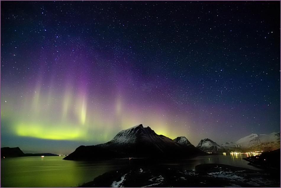 A piece of fine art art photography titled Aurora Night by Eskil Olsen