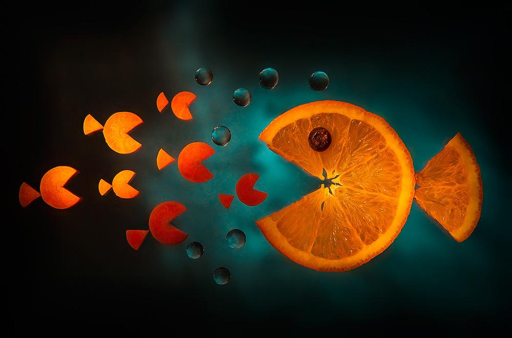 A piece of fine art art photography titled Orange Fish by Aida Ianeva