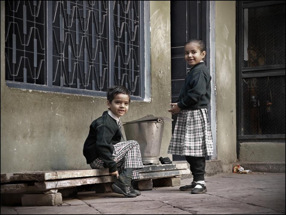 A piece of fine art art photography titled Kids by sensorfleck