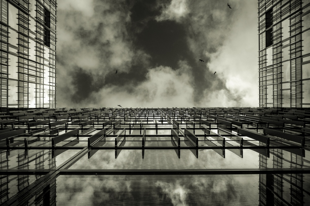 A piece of fine art art photography titled Amsterdam Offices by Peter Bijsterveld