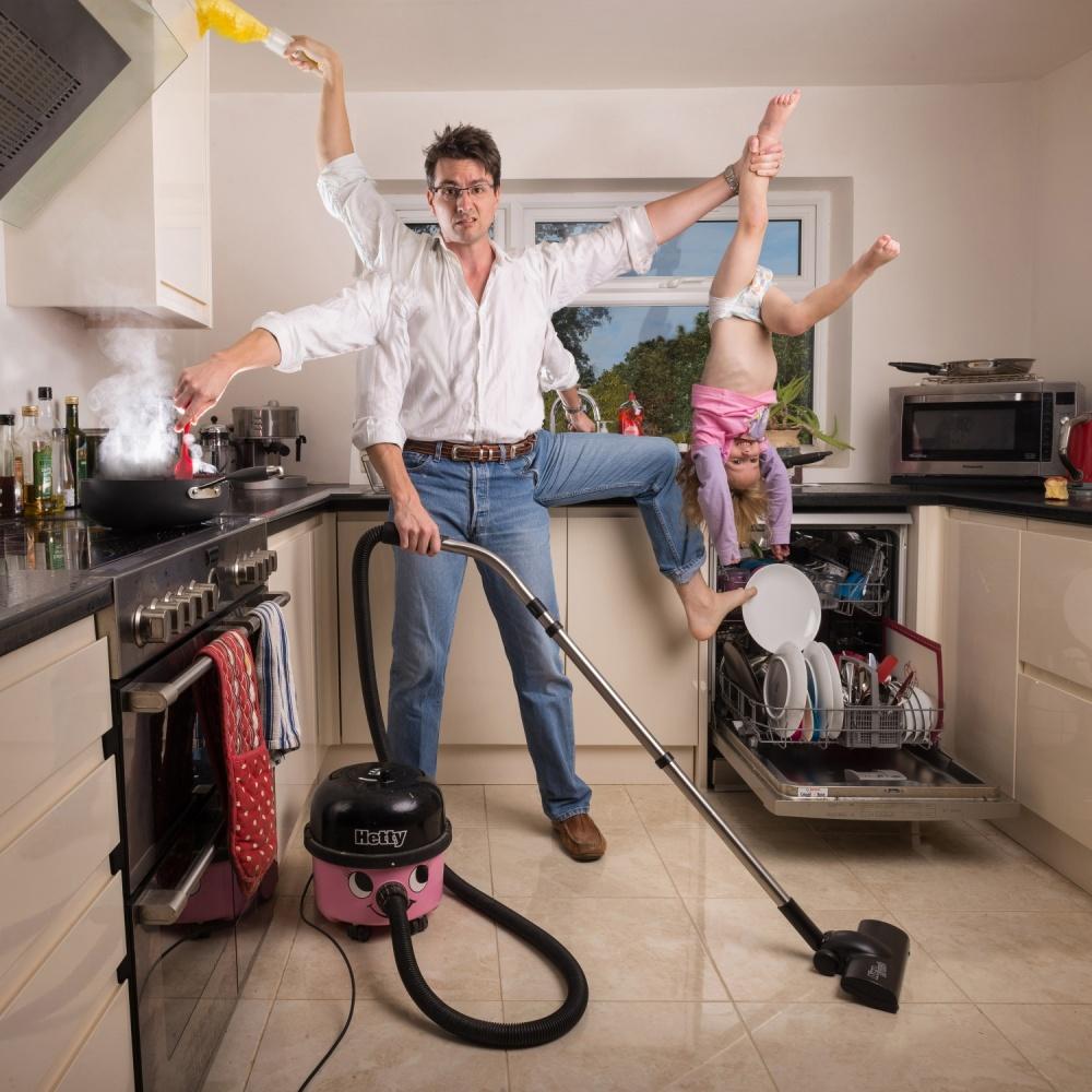 A piece of fine art art photography titled The House Husband by Simon Newbury