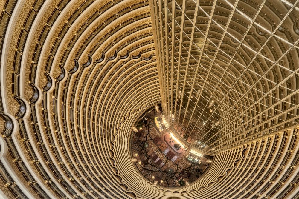 A piece of fine art art photography titled Shanghai - Jin Mao Tower by Jürgen Schrepfer