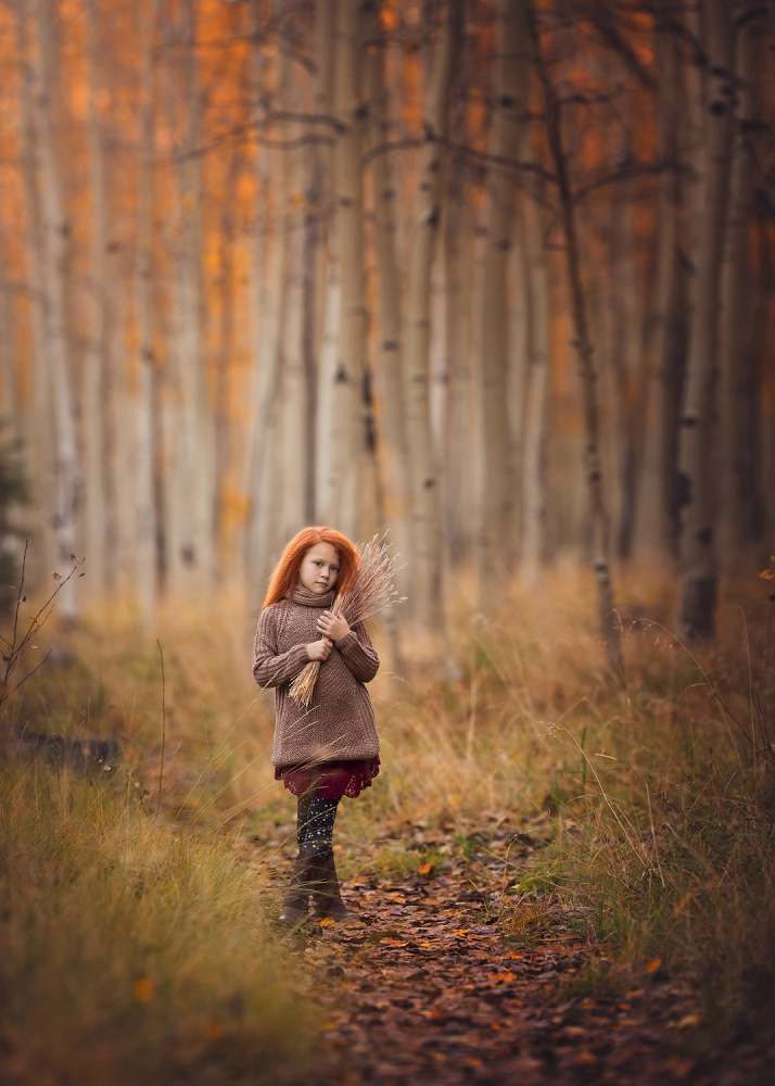 A piece of fine art art photography titled Autumn Bliss by Lisa Holloway