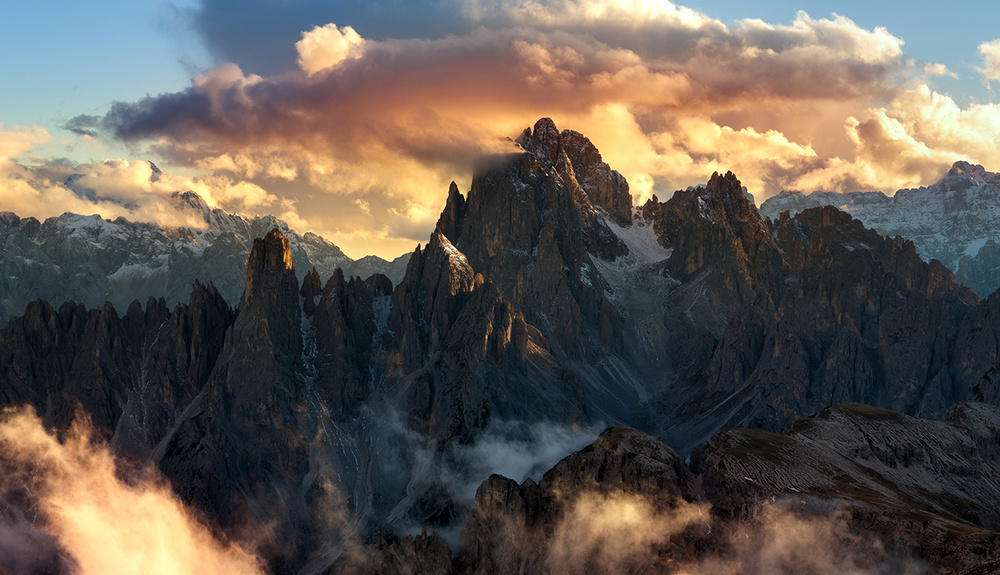 A piece of fine art art photography titled Dolomites by keller