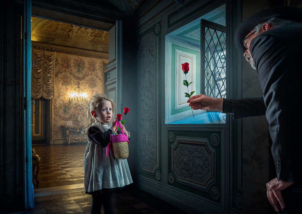 A piece of fine art art photography titled Be My Valentine by Adrian Donoghue