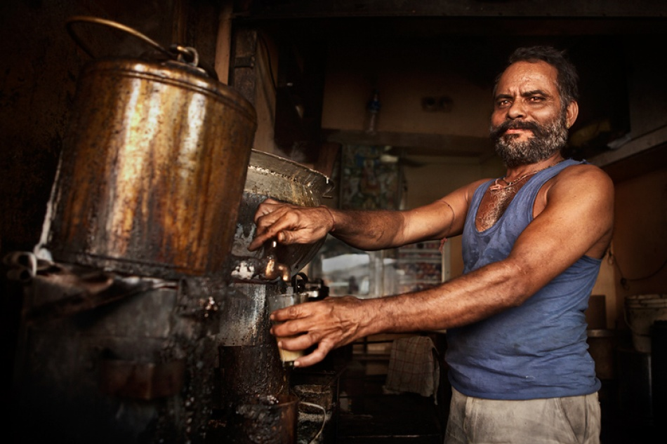 A piece of fine art art photography titled The Chai Walla of Jodhpur by Mitchell Kanashkevich