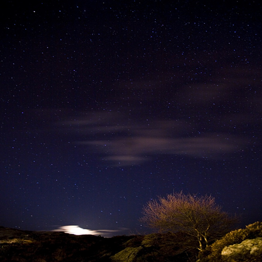 A piece of fine art art photography titled Nightsky by Willy Marthinussen