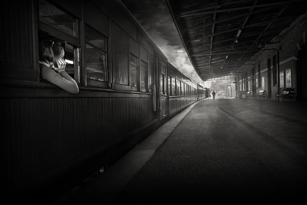 A piece of fine art art photography titled The Station by Adrian Donoghue