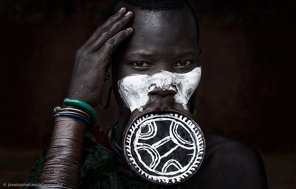 Surma tribe woman.