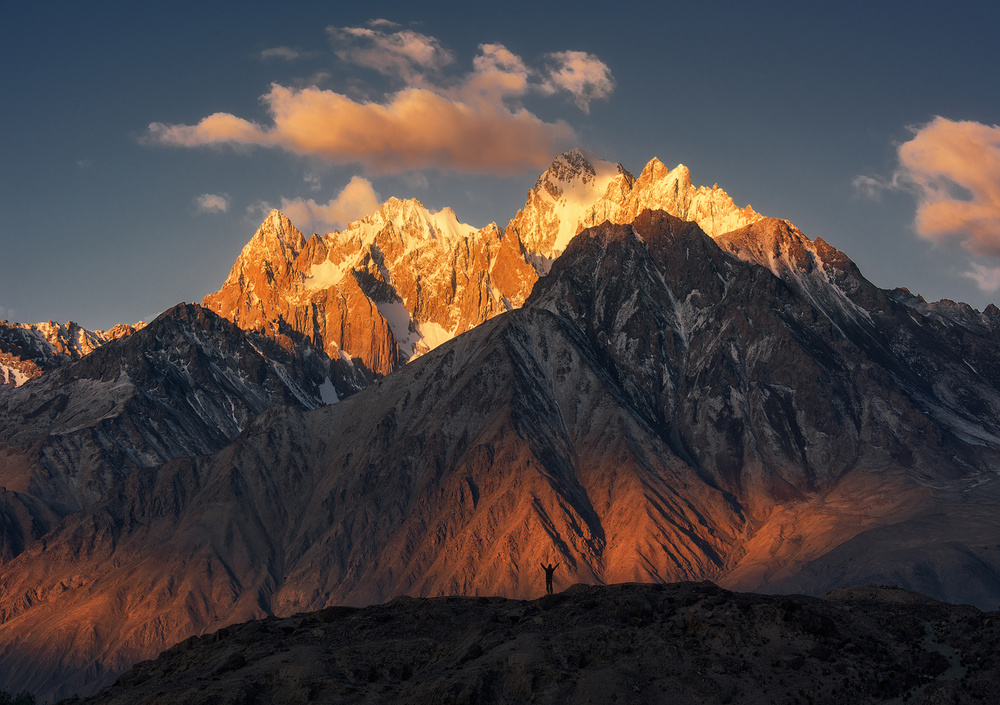 A piece of fine art art photography titled The Karakorum Mountains by Wenmin Zhang