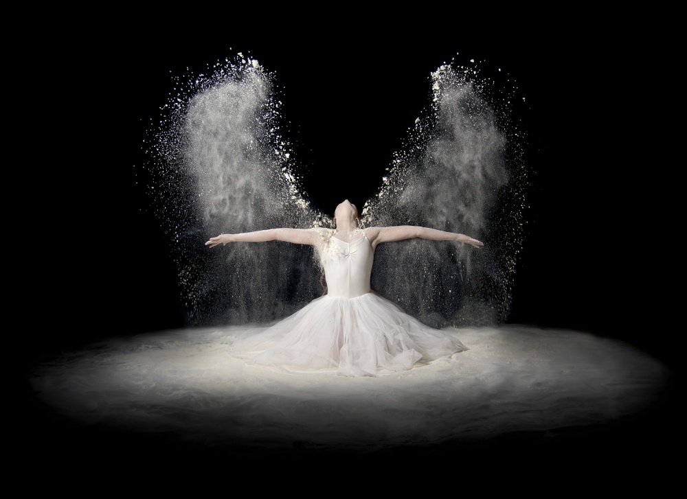 A piece of fine art art photography titled Flour Wings by Pauline Pentony MA ARPS DPAGB