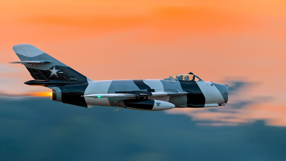 High speed pass in sunset