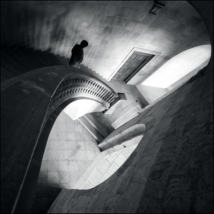 A piece of fine art art photography titled Descent by Jon Wild