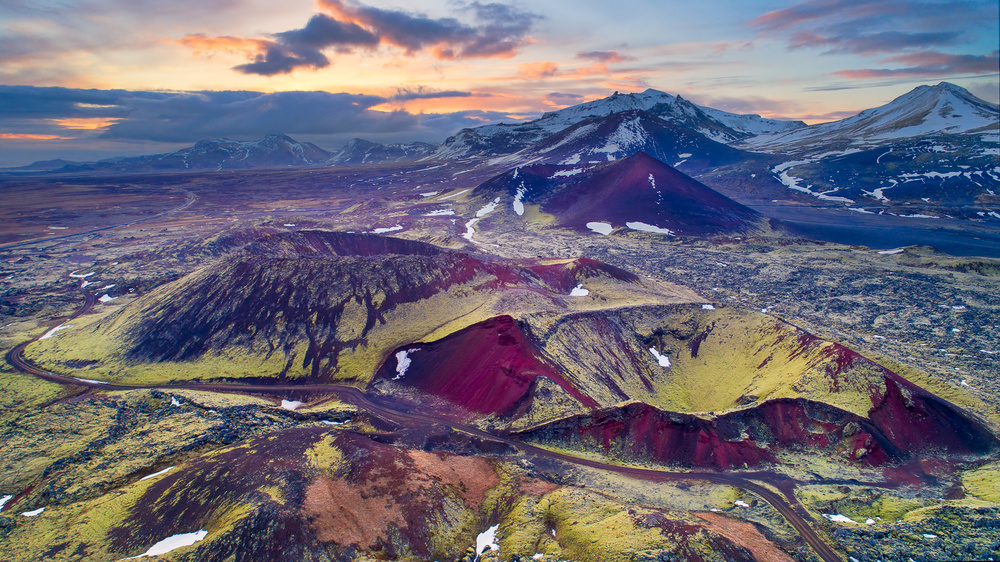 A piece of fine art art photography titled Land of Volcanos by John Fan