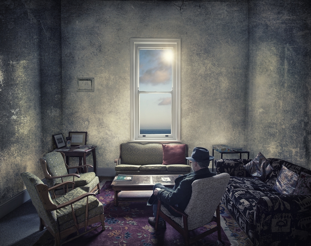 A piece of fine art art photography titled The Sunbather by Adrian Donoghue