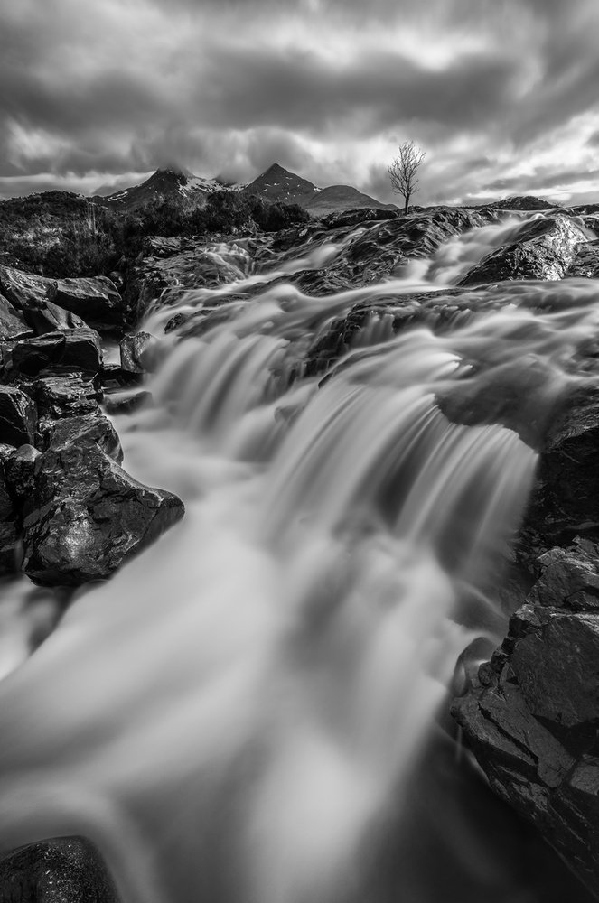 A piece of fine art art photography titled Falls of Sligachan by Jonathan Zhang