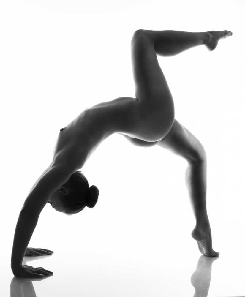 A piece of fine art art photography titled Gymnastics by Jan Lykke