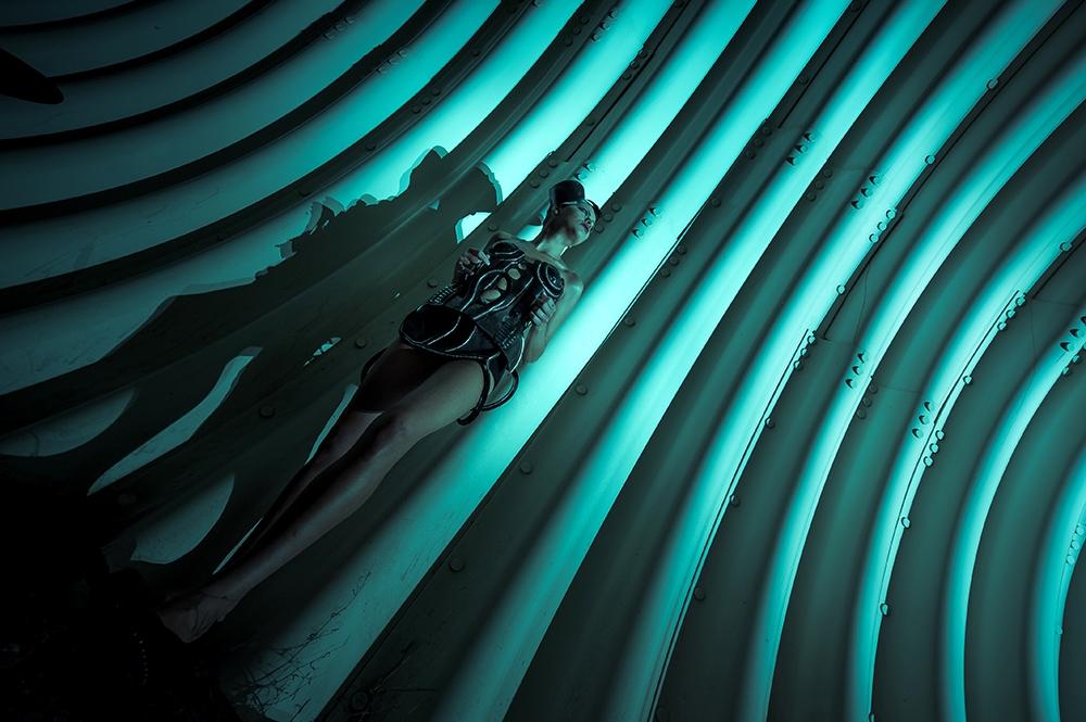 A piece of fine art art photography titled Alien by Piotr Leczkowski