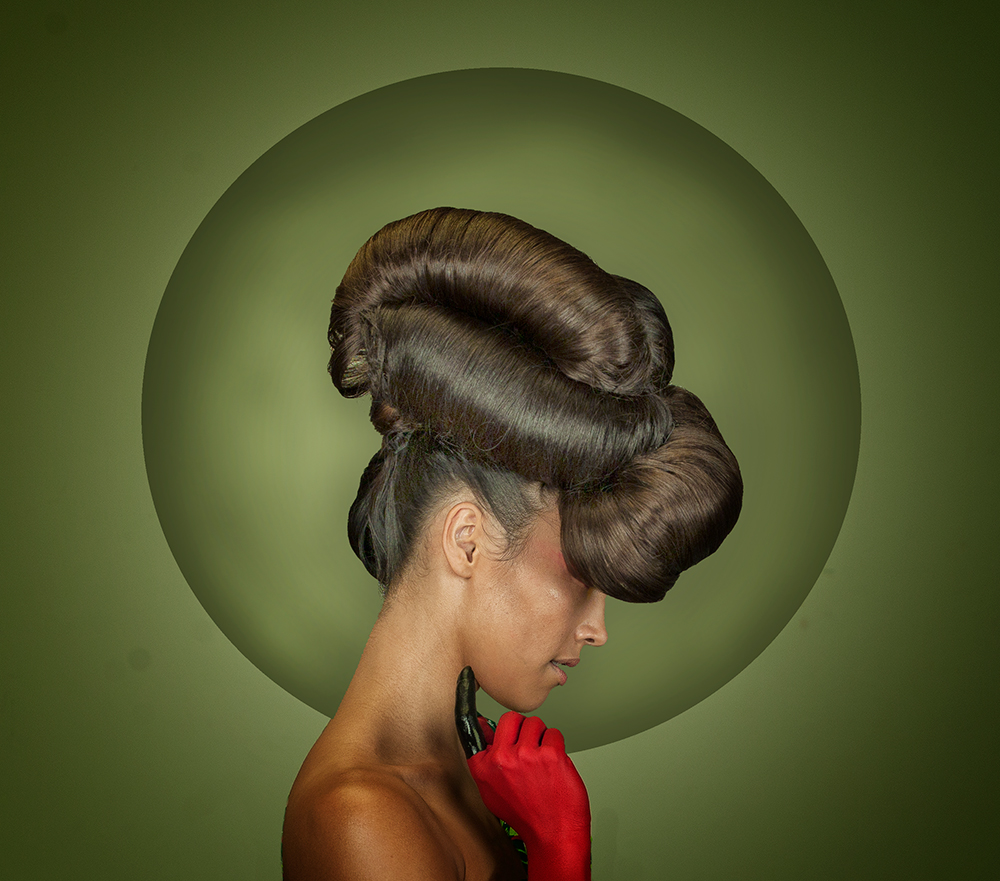 A piece of fine art art photography titled Hair by Peter Kemp