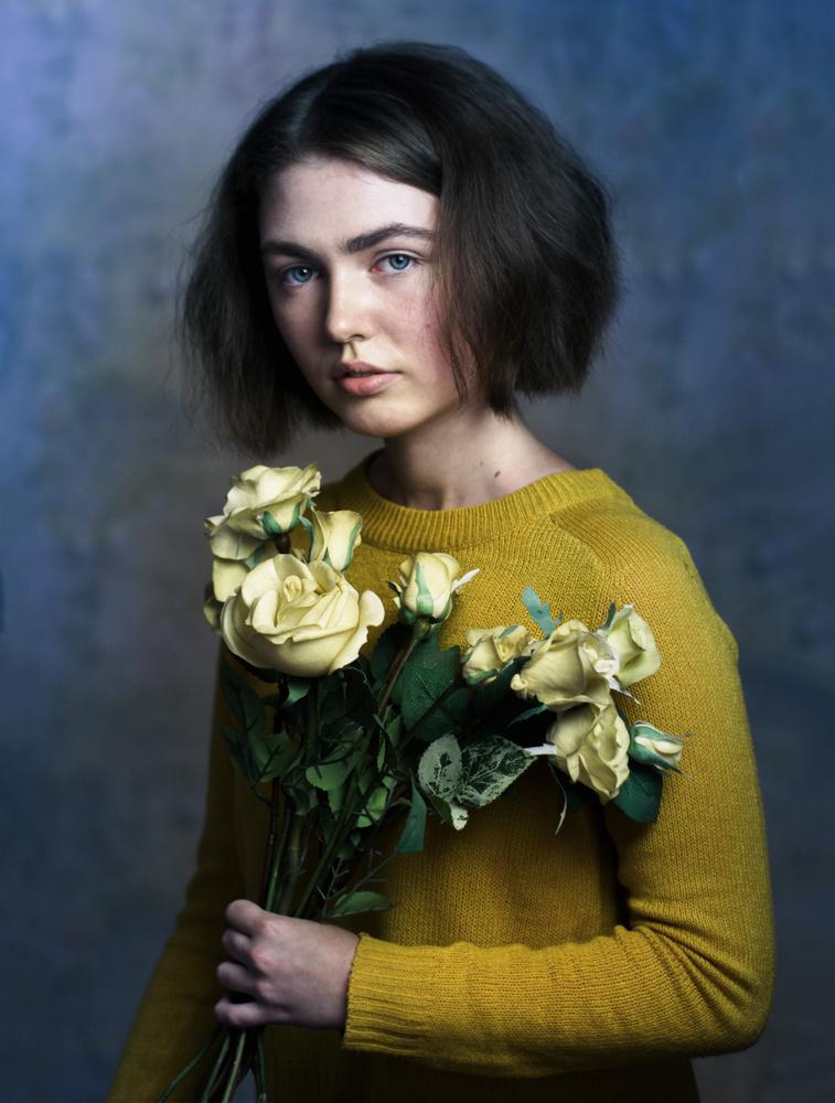 A piece of fine art art photography titled Yellow Roses by Kolesnyk Valentyn
