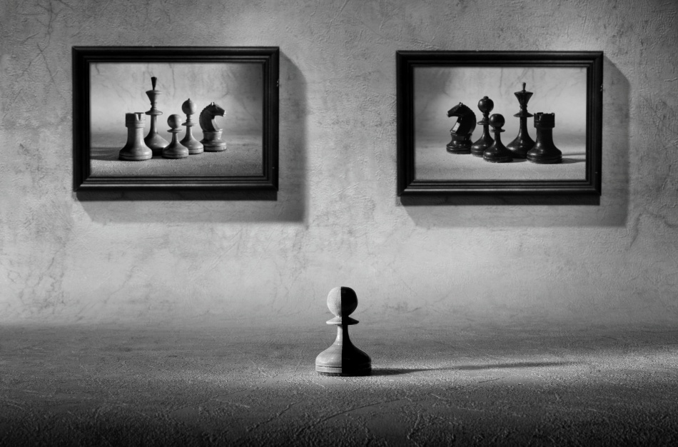 A piece of fine art art photography titled The Choice to Make by Victoria Ivanova