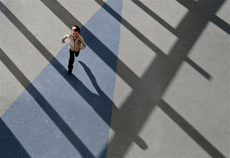 A piece of fine art art photography titled Running by Jef Van den Houte