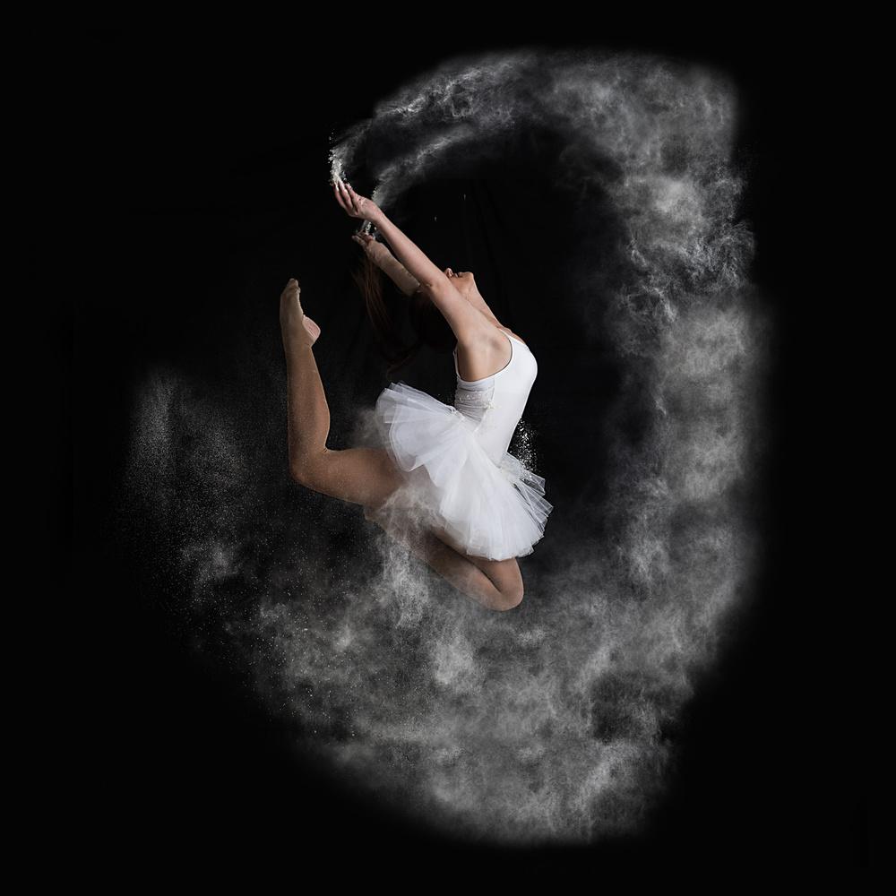 A piece of fine art art photography titled Jump by Mogyorosi Stefan