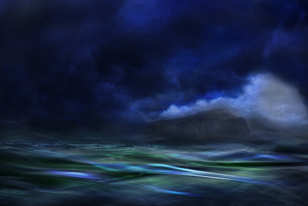 A piece of fine art art photography titled The Island by Willy Marthinussen