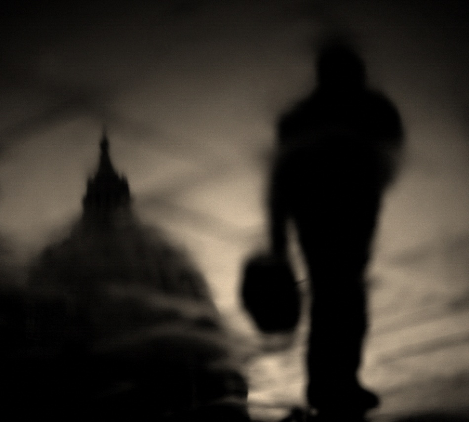 A piece of fine art art photography titled Sacred Stroll by Fulvio Pellegrini