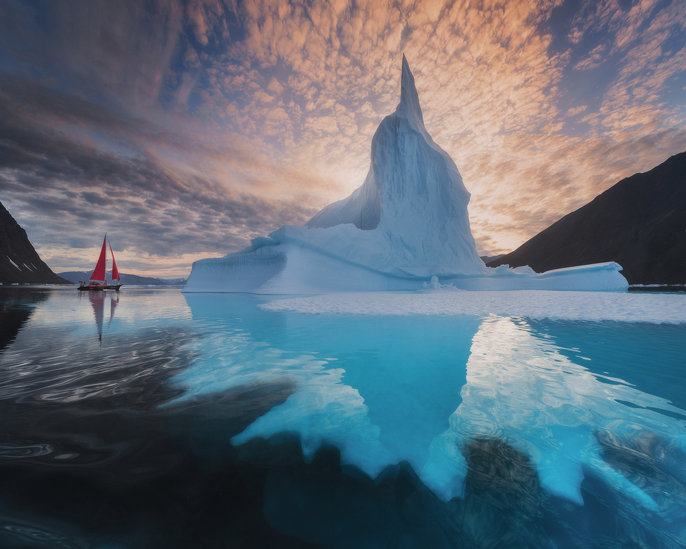 A piece of fine art art photography titled Ice Roots by Daniel Kordan