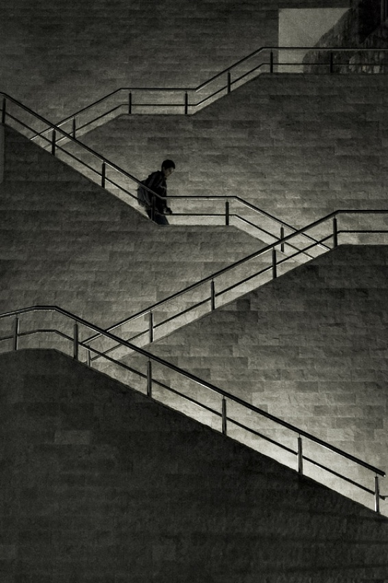 A piece of fine art art photography titled Downstairs by Ana Lovrin