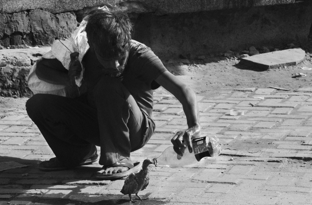 A piece of fine art art photography titled Serve Humanity by chandan singh