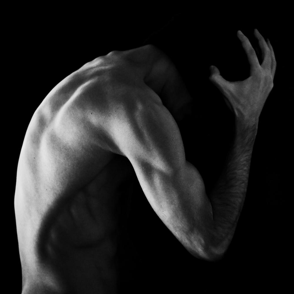 A piece of fine art art photography titled Into Black by Bobby Kostadinov