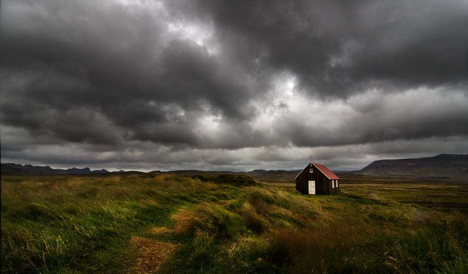 A piece of fine art art photography titled Abandonedbut Not by God by Henrik Spranz