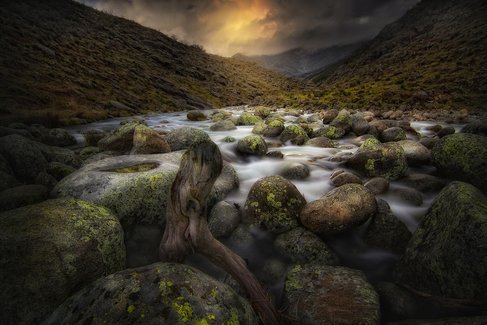 A piece of fine art art photography titled The River by Amador Funes