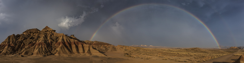 A piece of fine art art photography titled Bardenas (pano With Music) by Martin Zalba
