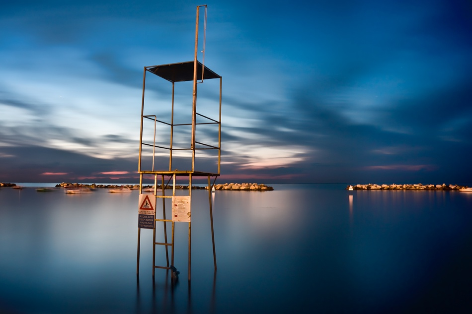 A piece of fine art art photography titled Baywatch Tower by Giovanni Drogo