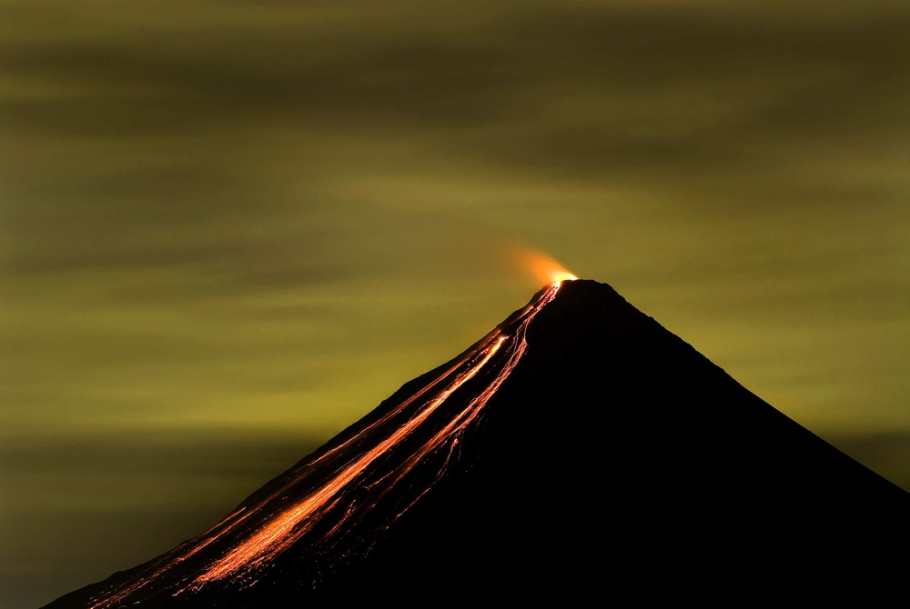 A piece of fine art art photography titled Arenal Volcano by Luis Louro