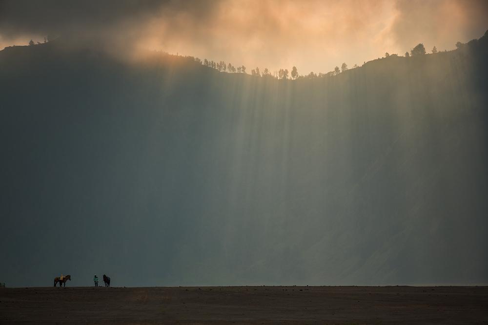 A piece of fine art art photography titled Light Shower by Gunarto Song
